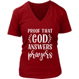 Proof That God Answers Prayers V-Neck - The Praying Woman