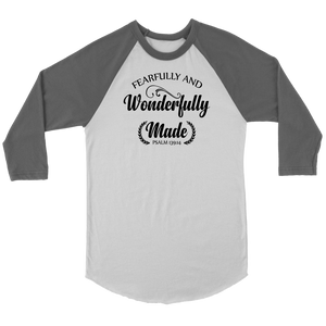 Fearfully and Wonderfully Made Raglan Shirt - The Praying Woman