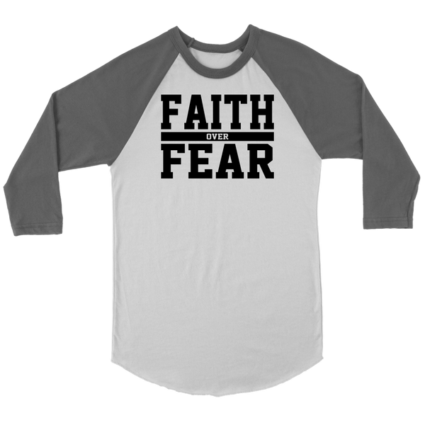 Faith over Fear Raglan Shirt - Pretty Praise