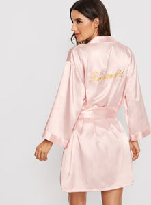 Bridesmaids Satin Robes with belt