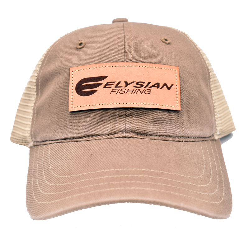 Elysian Fishing Khaki Leather Patch Hat