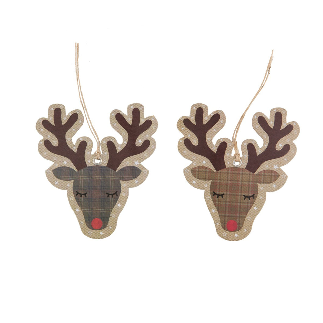 SET OF 10 RUDI REINDEER GIFT TAGS