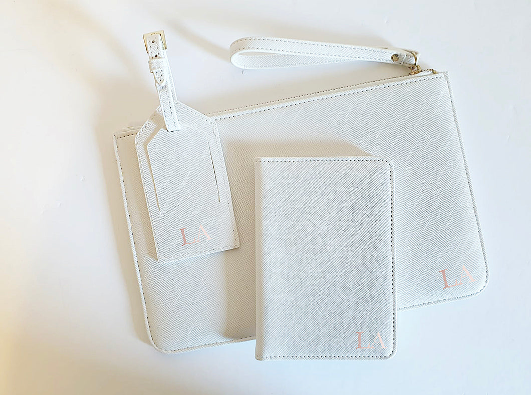 Personalised Travel Set - White
