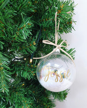 Load image into Gallery viewer, Snow & Suede Personalised Bauble