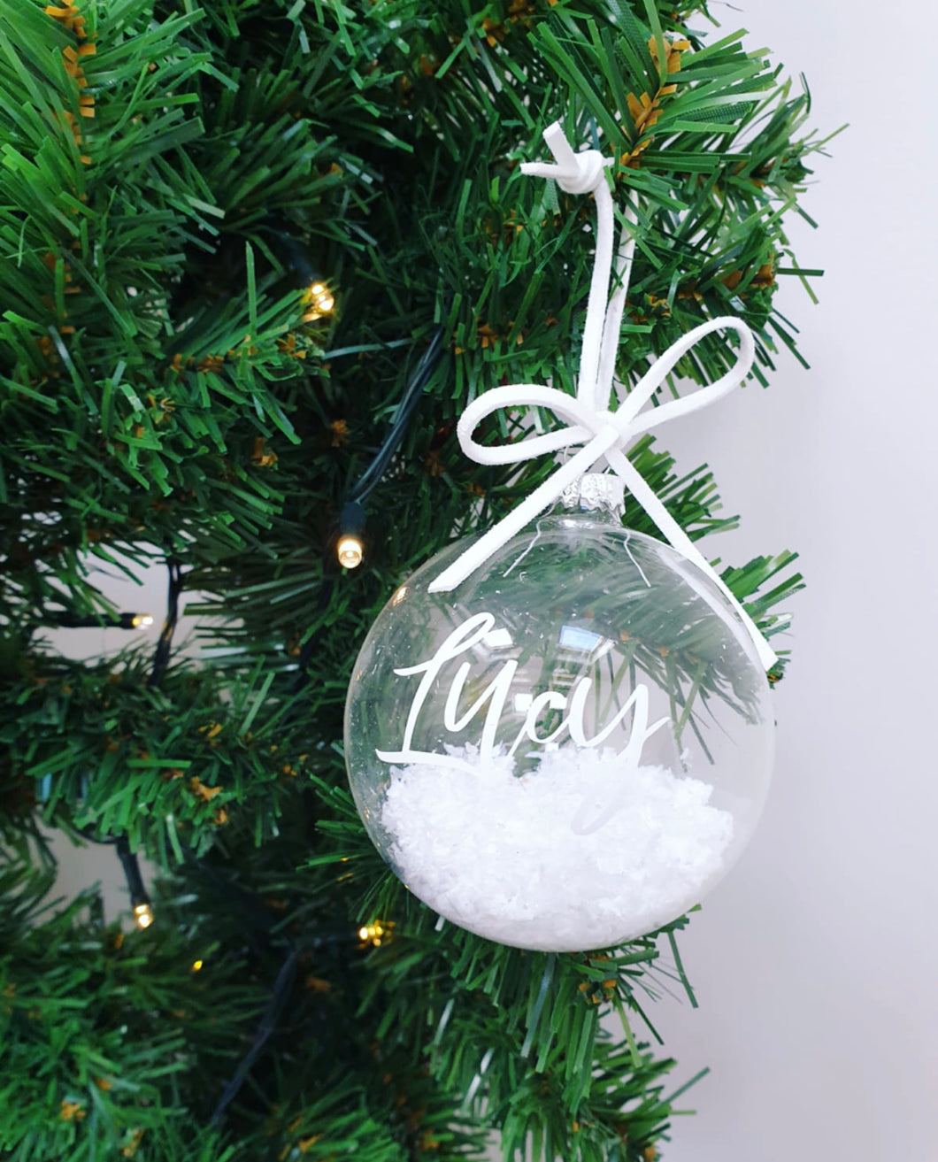Snow & Suede Personalised Bauble