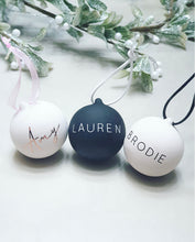 Load image into Gallery viewer, Personalised Ceramic Bauble
