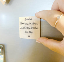 Load image into Gallery viewer, Personalised Wooden Magnet - Text