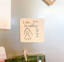 Load image into Gallery viewer, Personalised Wooden Magnet - Own Drawing/Handwriting