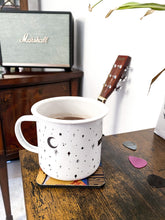 Load image into Gallery viewer, Extra Large Enamel Stars, Moon and Cross Mug