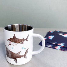 Load image into Gallery viewer, Personalised Stainless Steel Mug Shark Mug