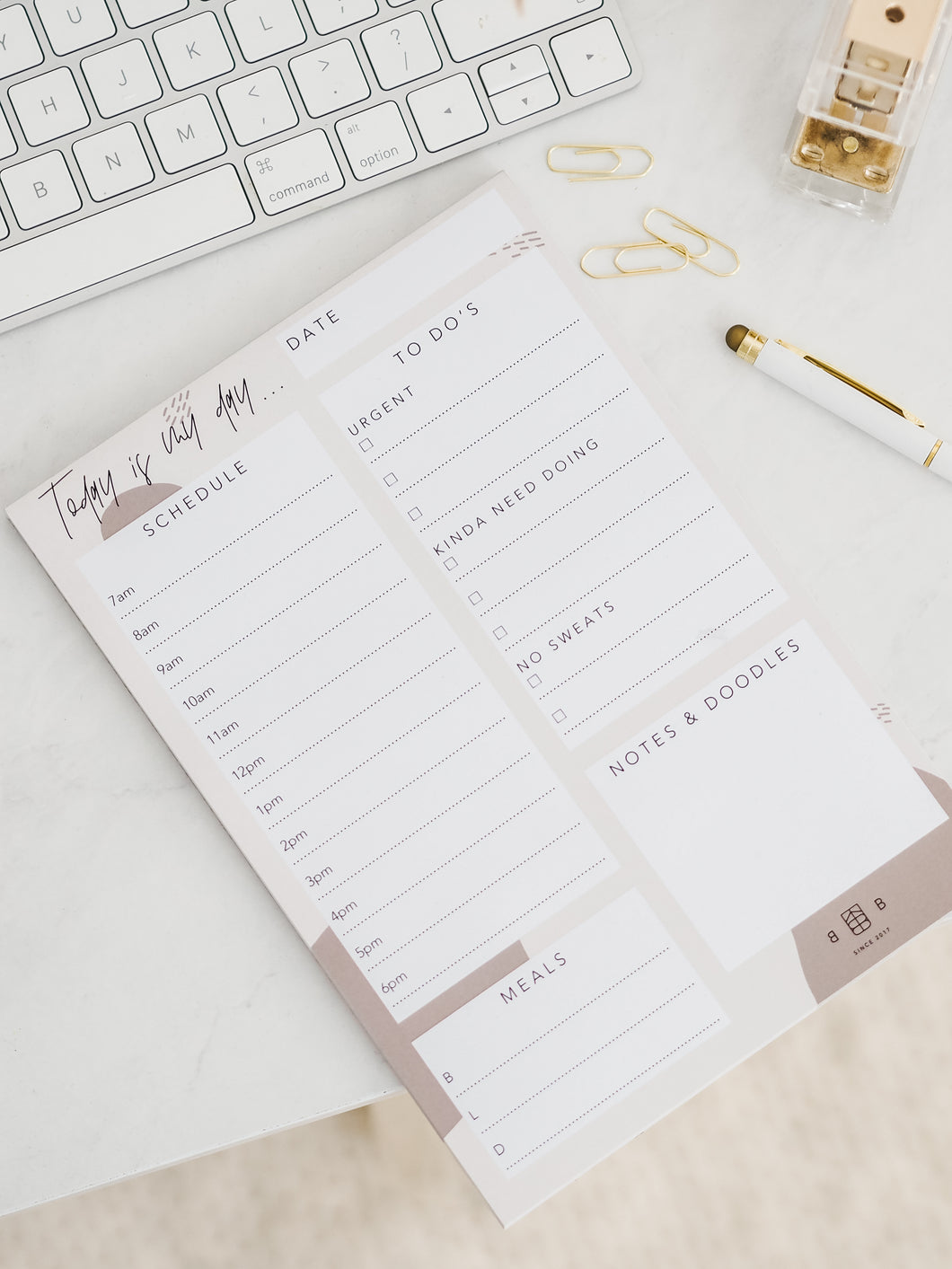 A5 Daily Planner Notepad