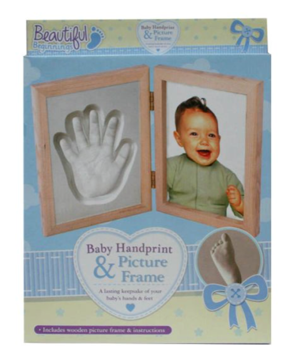 Baby Handprint and Photo Frame