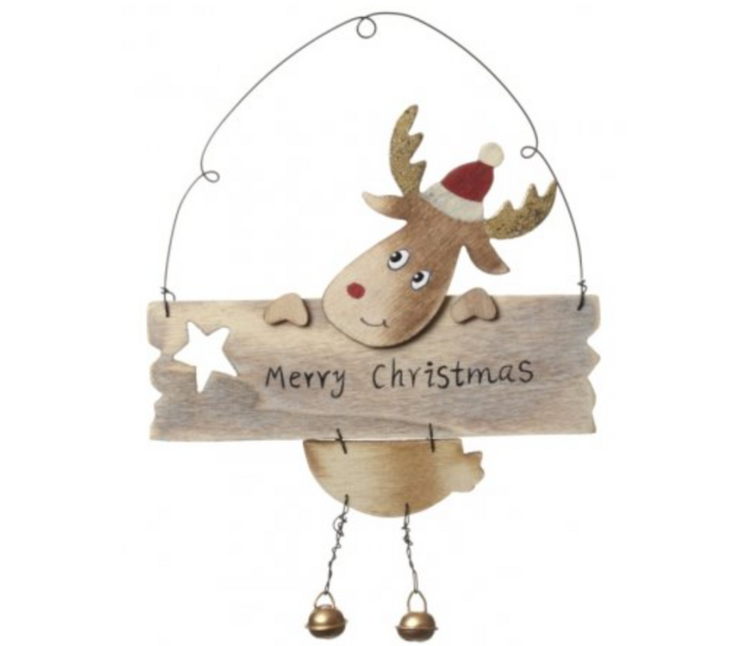 Merry Christmas Reindeer Sign