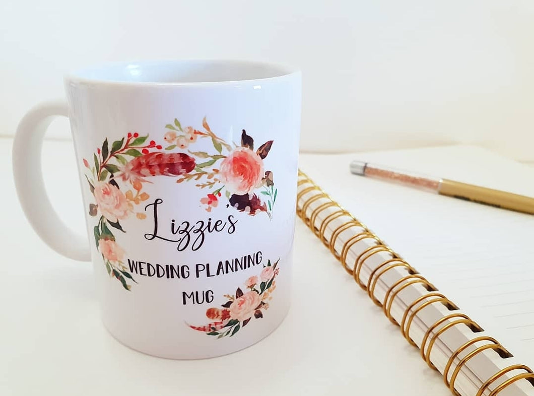 Personalised Wedding Planning Mug