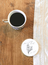 Load image into Gallery viewer, Personalised Botanical Ceramic Coaster