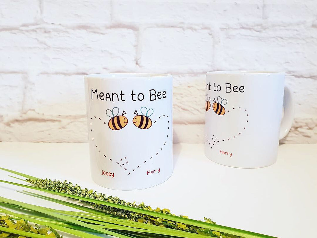 Meant to Bee Couples Mug