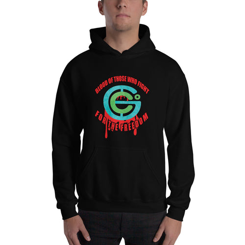 Blood of those who fight for the freedom Hooded Sweatshirt