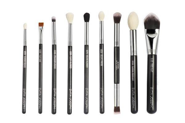 9-PCS SALTED  MAKEUP BRUSH SET