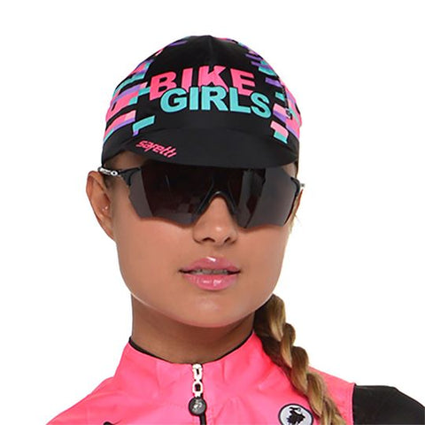 Gorra Ciclismo Negra Mujer  | Black Cycling Cap for Women