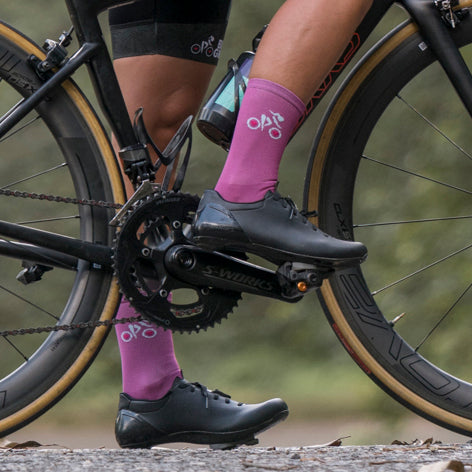 Medias Moradas | Purple Cycling Socks Women