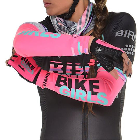 Mangas Ciclismo Mujer en Coral | Pink Cycling Arm Wormers - Sleeves Women