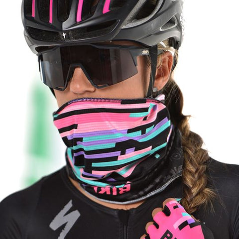 Cuello Protector Facial Negro Ciclismo Mujer | Cycling Headwear for Women