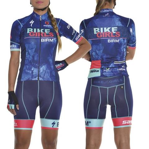 Colección Azul I Blue Cycling Suit for Women