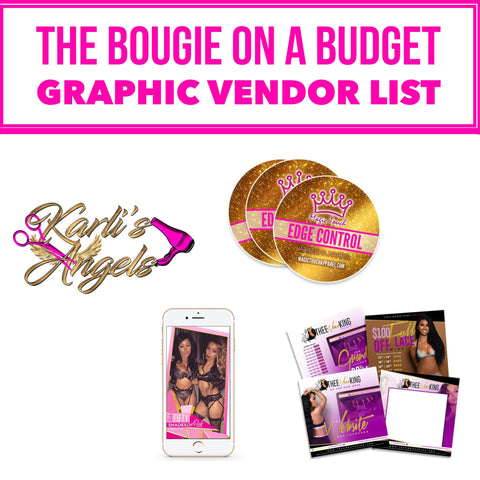 The Bougie On A Budget Graphic Vendor List