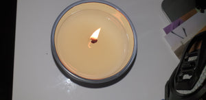 Matt White - Electroplated Silver Inside Large Candle