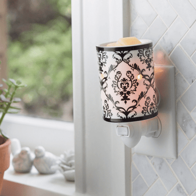 Damask Porcelain Pluggable Wax Melt Warmer