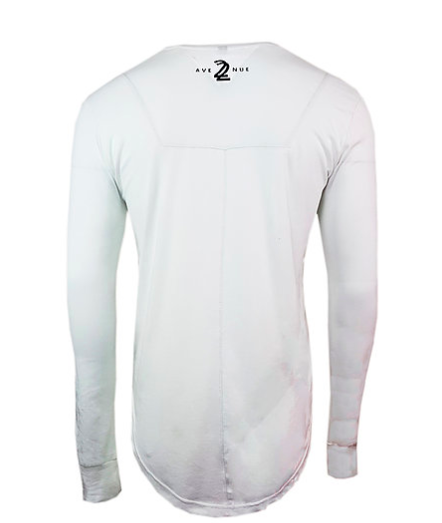 LONG SLEEVE SCOOP TEE - WHITE