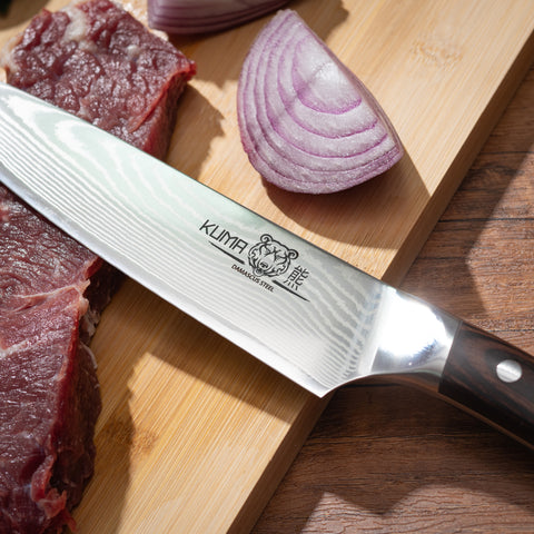 KUMA VG10 Damascus Chef Knife 8 Inch – 67 Layers of Premium Steel