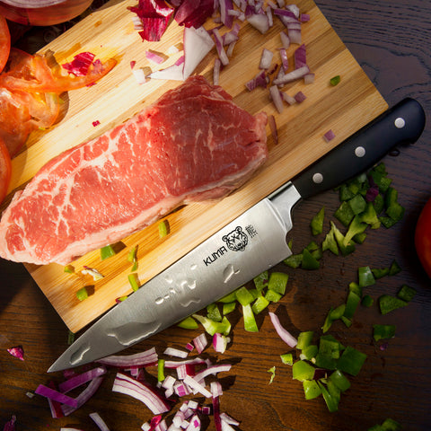 "KUMA Multi Purpose Chef Knife - 8"" Pro Bolster Edition - Razor Sharp Out Of The Box"