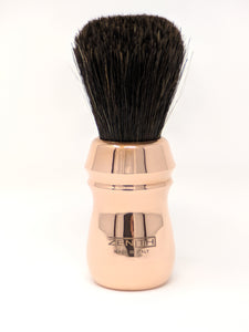 Extra Soft Horse Shave Brush by Zenith. Copper Handle. Made In Italy E2