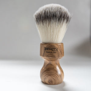 Zenith Olive Wood Synthetic Shave Brush.  S5