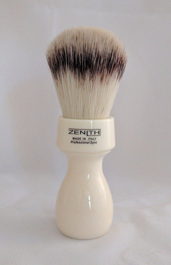 Retro White Resin Handle With Synthetic Knot Brush by Zenith S9