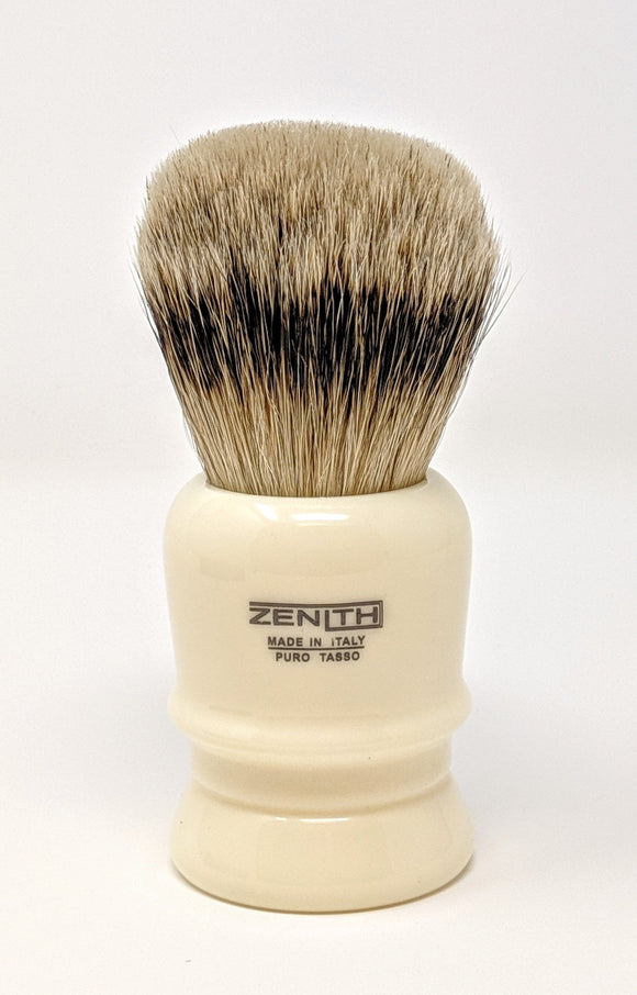 The Big One - Zenith Resin Silvertip Brush With 31mm x 57mm Made In Italy P21