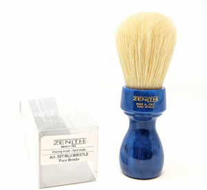 Blue Resin Handle Boar Brush by Zenith Made In Italy B29