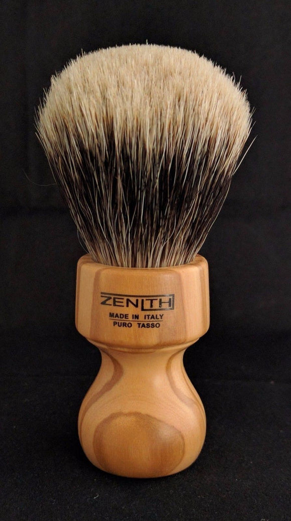 Manchurian Olive Wood Shave Brush by Zenith M5