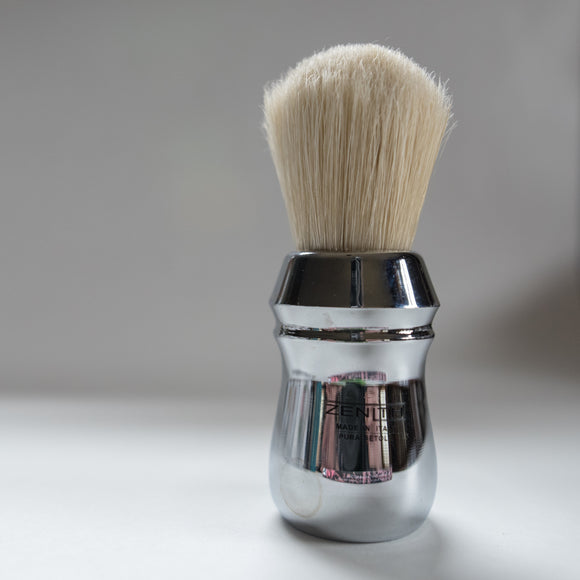 Big Scrubby Chromed - All Metal Boar Shave Brush by Zenith 28x50mm B21