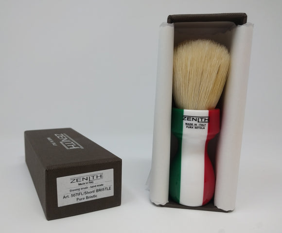 Zenith Italian Flag Tall Scrubby Boar Brush. 27 x 47 Made in Sicily. B31