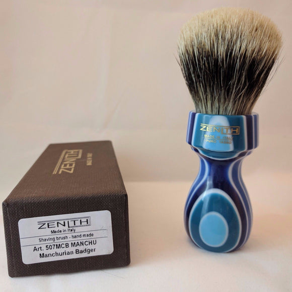 Mult-Colored Blue Resin Manchurian Brush. by Zenith M13