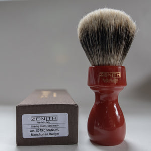 Red Retro Resin Manchurian Brush by Zenith M12