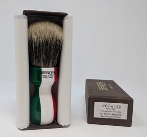 Zenith Tall Scrubby Italian Flag Manchurian Brush. 27.5 x 51 Made in Sicily. M19