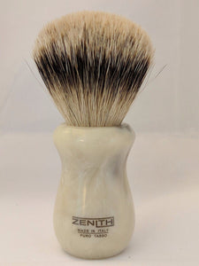 "Faux ""Horn"" Resin Silvertip Badger Shaving Brush by Zenith 24.5x51mm P18"