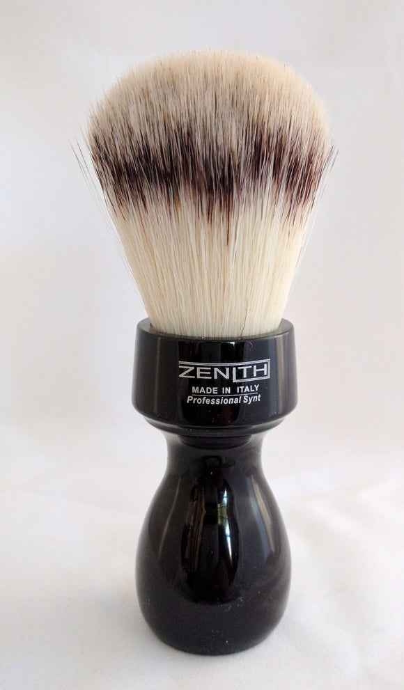 Retro Black Resin Handle With Synthetic Knot Brush by Zenith.  S8