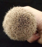 Handcrafted Sicilian Ceramic Silvertip Badger Brush by Zenith. 28mm Knot. P6