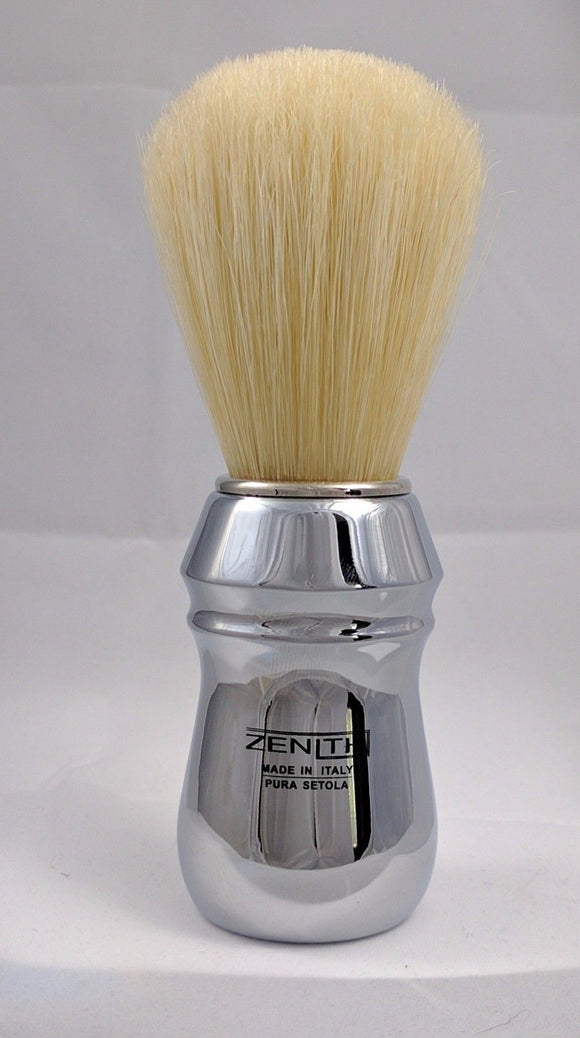 All Metal Chromed Big Boar Shave Brush by Zenith 26x64mm  B18