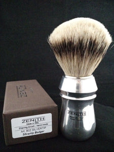 Large Pro Aluminum Silvertip Brush by Zenith 26mm Knot P11