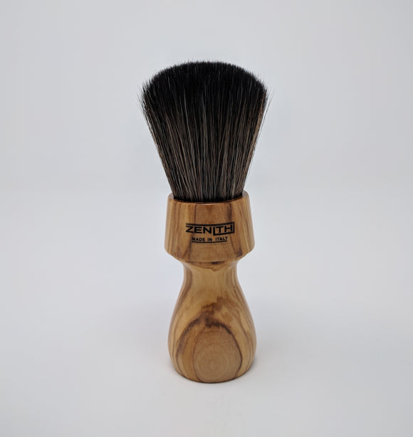 Zenith Black Synthetic Brush With Olive Wood Handle 27.5mm N3